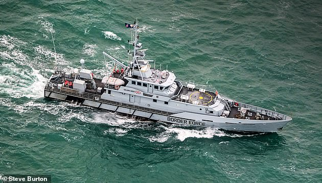 On Thursday it emerged that one one navy cutter was patrolling the Channel during the Christmas period, aided by two smaller boats