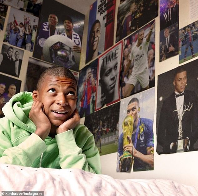 Kylian Mbappe reflected on a remarkable year in 2018 when he published a photo of his youth