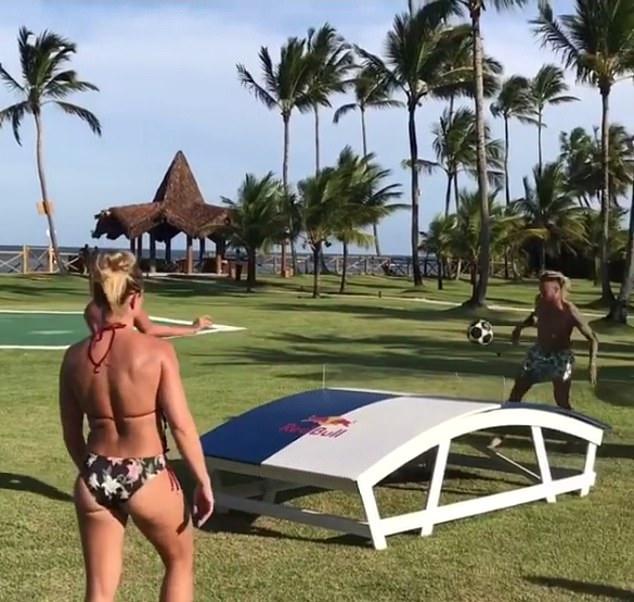 Neymar was busy in his winter break in Brazil, trying on the Teqball