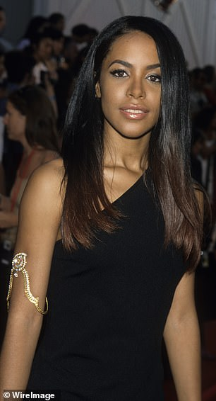 Parting ways: Aaliyah cut ties with Kelly after the accusations of illegal marriage; she died in a plane crash in 2002 shortly after filming a music video in the Bahamas, aged just 22