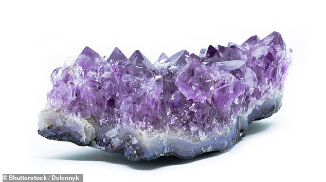 The two thieves are accused of stealing amethyst - a semi-precious stone, pictured - in a quantity worth between $15,000 and $20,000 during the raid in Airzona last August