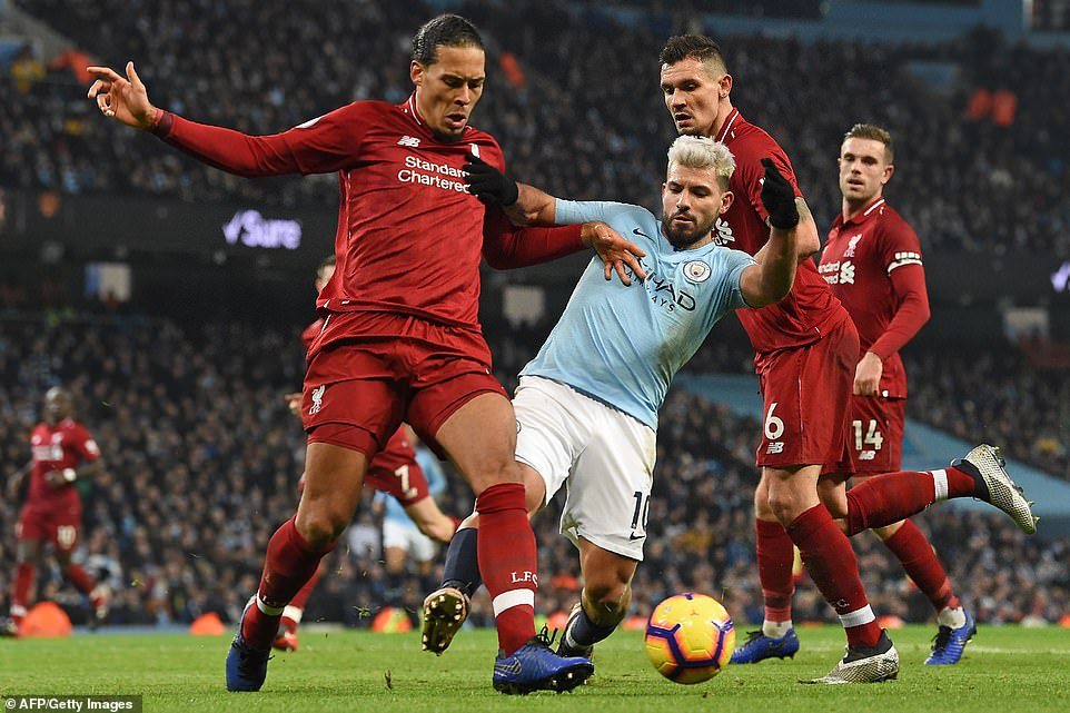 Virgil van Dijk was a colossus at the back for the Reds in the first half and was arguably the best player on the pitch