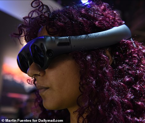 The firm demonstrated its new motorcycle at the Panasonic booth at CES, using the Magic Leap augmented reality headset to create an immersive experience on the show-floor
