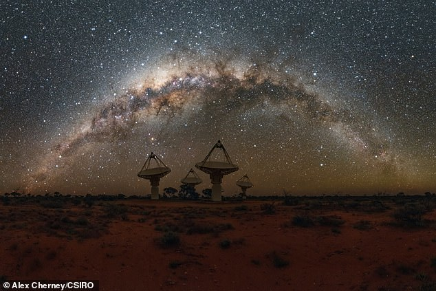 Fast radio bursts are elusive signals that last just a few milliseconds, and are thought to originate billions of light-years away ¿ but, scientists don¿t yet know what causes them (file photo)