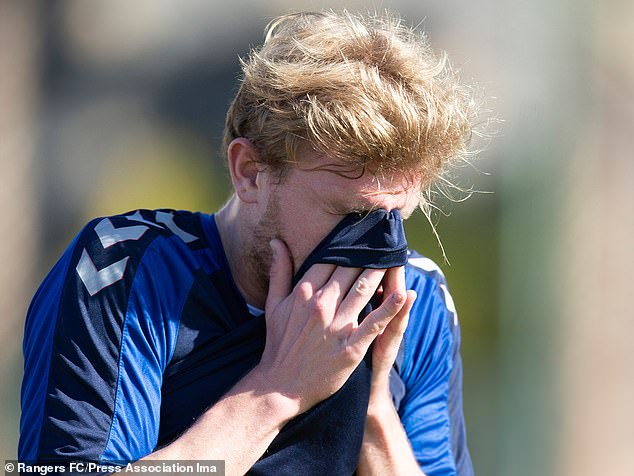 Worrall had to be tended to by club doctor Mark Waller as temperatures soared in Tenerife
