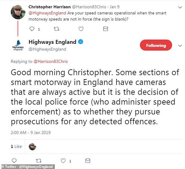 Highways England musste sich an Twitter wenden, um Fragen von betroffenen Autofahrern bezüglich der Gerüchte zu beantworten