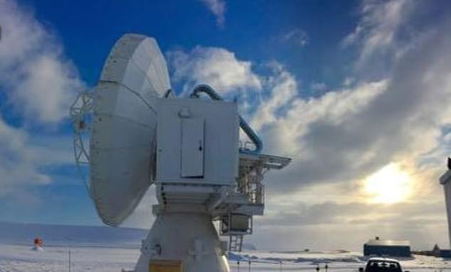 The Event Horizon Telescope, an international collaboration, uses about 15-20 telescopic dishes around the world that collectively detect black holes. The telescopes must all be directed towards the black hole and measure radio waves. Pictured, one in Greenland