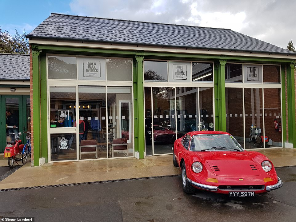 At Auto Wax Works, visitors can view rare and cherished cars while expanding while enjoying a cup of coffee and a sandwich in the cafe next door