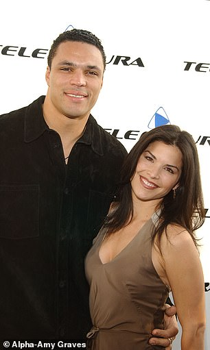 Sanchez is portrayed with Gonzalez in 2002, before splitting and became a single mother with his son Nikko