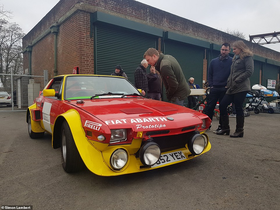 A rare Abarth version of Fiat's X19 sports car in Bicester Heritage was ready for the rally phase