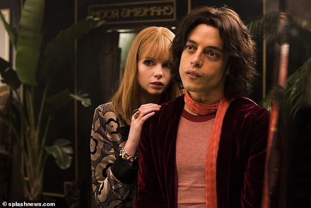 Lucy Boynton (left) played Mary Austin in theBohemian Rhapsody film and Rami Malek (right) played Freddie Mercury