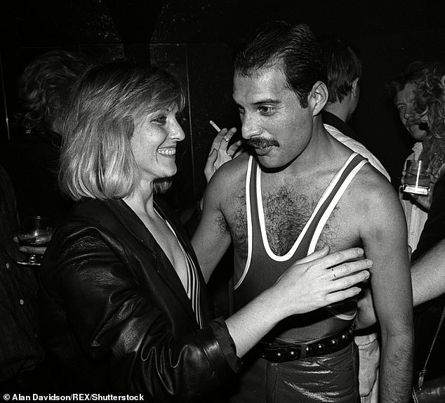 Mary Austin (left) and Freddie Mercury (right) met when Mary Austin was 19-years-old