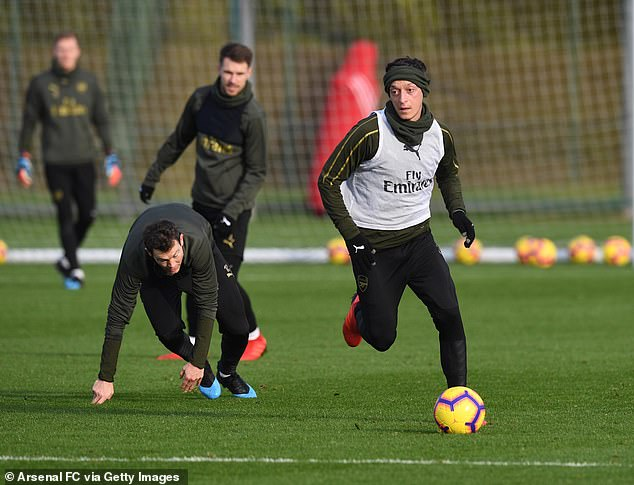 Mesut Ozil was left outside Arsenal's team for the West Ham collision, despite being fit