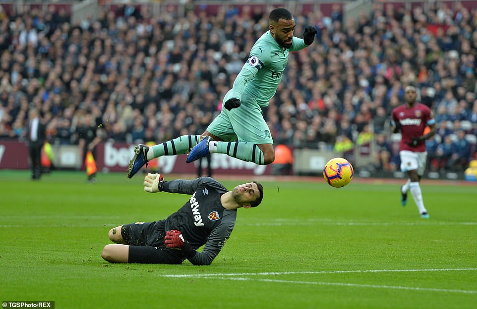 The Frenchman made a lively start of the armature and tried to get behind the Hammers line every time