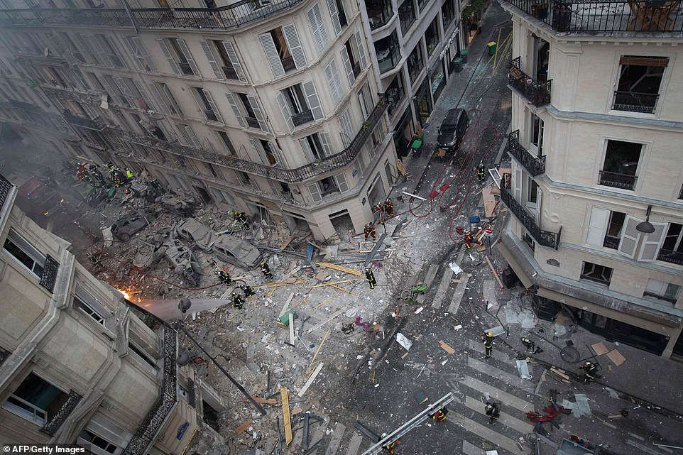 In total, 36 people were injured in the blast which happened in the city's 9th arrondissement at 9am local time