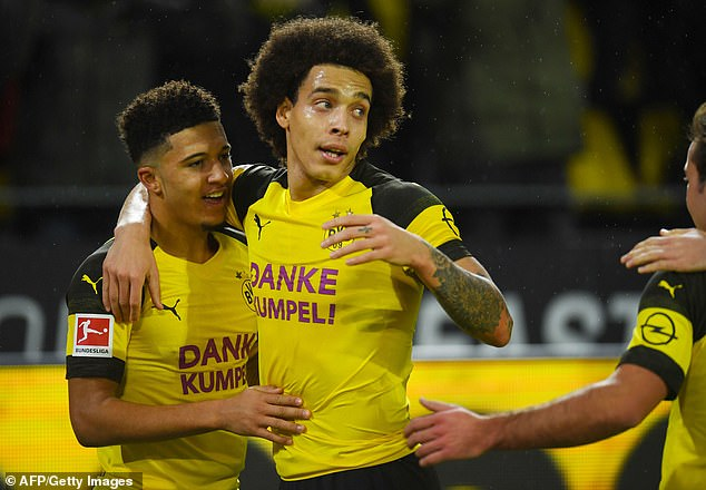 Sancho also greets the influence of Axel Witsel, who has won more than 100 caps for Belgium