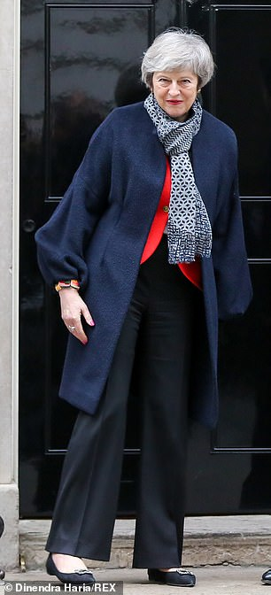 Now even No 10 is warning that the Prime Minister (pictured) could be ousted as soon as Wednesday if she suffers another heavy defeat over her Brexit deal in this week's crunch vote