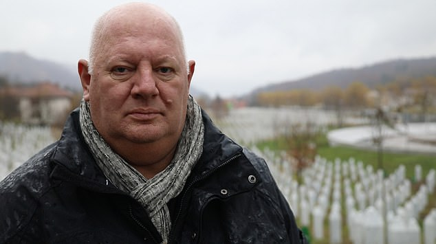 Malcolm Brabant in Srebrenica, Bosnia and Herzegovina, where a massacre took place in 1995 during the Civil War