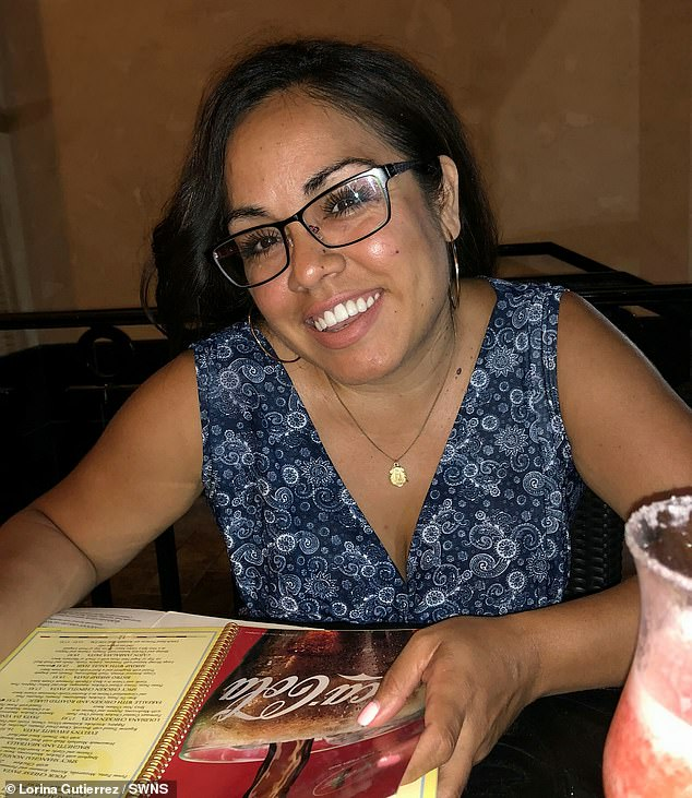 Mrs. Gutierrez (pictured before her ordeal) said she did not remember much of her treatment, but now she is doing her mission to raise awareness of autoimmune encephalitis