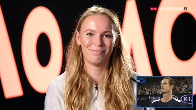 The Australian Open champion, Caroline Wozniacki, suggested that Murray could become his coach