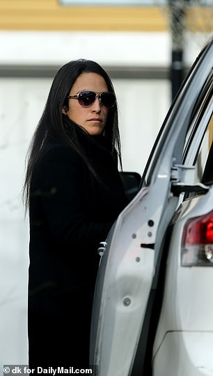 Elena Sanchez is in her driveway with no sign of her sister Lauren after the Bezos scandal