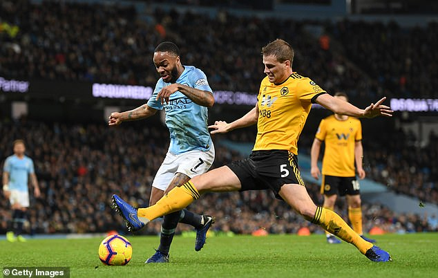 Raheem Sterling won a penalty for the hosts after being fouled in the box by Ryan Bennett