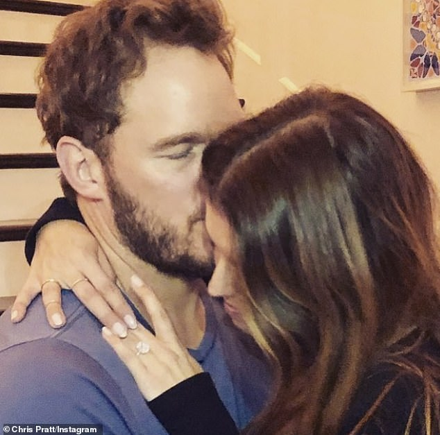 Honey: Pratt announced their engagement with a sweet photo of the couple shared on his Instagram account