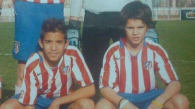 His Atletico past, however, is an important factor - Morata (right) came through their youth system