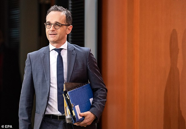 Germany's foreign minister Heiko Maas (pictured in Berlin last week) said Brexit talks will start back up if the Withdrawal Agreement is voted down