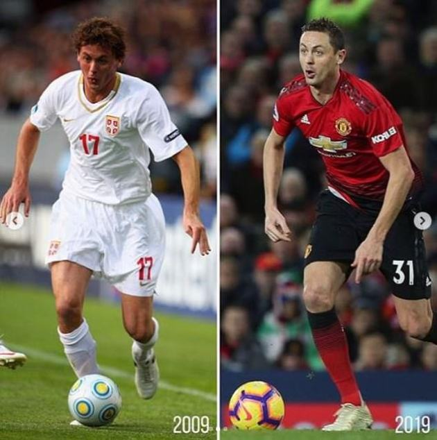 Defensive midfielder Nemanja Matic was the third player selected to take part in the craze