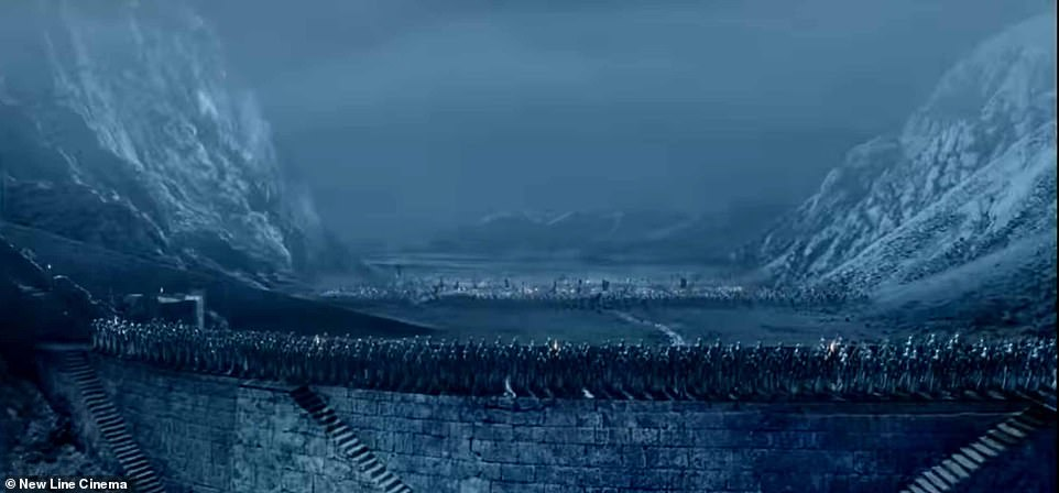 How Helm's Deep was portrayed in The Two Towers movie. Helm's Deep's caves are described in The Two Towers book as 'immeasurable halls, filled with an everlasting music of water that tinkles into pools'