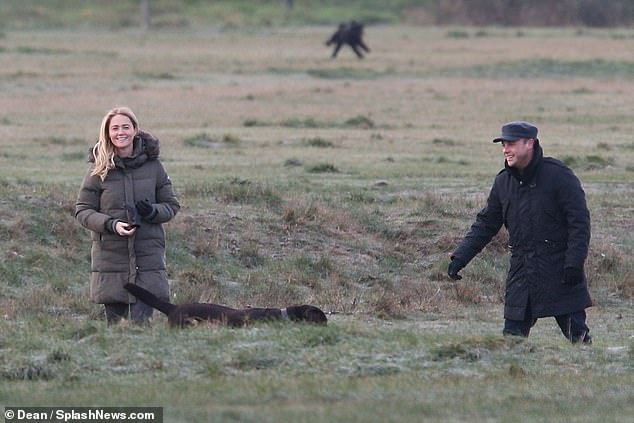 Happy couple: Ant will be using the break to spend time with his partner of over a year Anne-Marie Corbett, 43, with whom he shares a labrador called Hurley (pictured in January 2020)