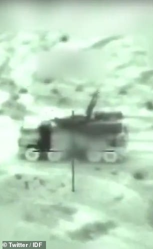 Israel's armed forces posted footage of the airstrikes (pictured). The raids were the deadliest Israeli strikes since last May, the Britain-based Syrian Observatory for Human Rights said