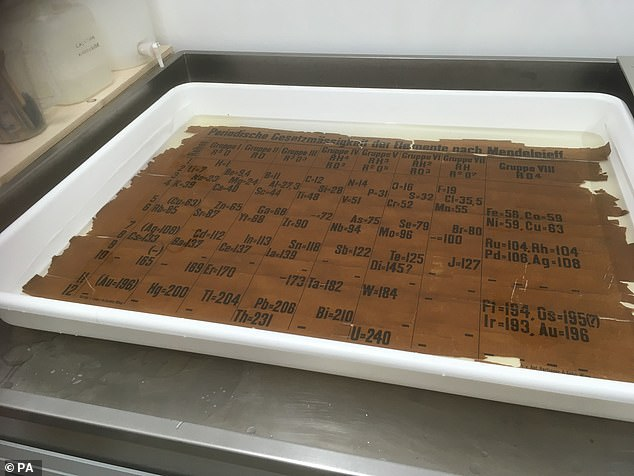 Professor Eric Scerri from the University of California has dated the St Andrews version of the table (pictured) to between 1879 and 1886