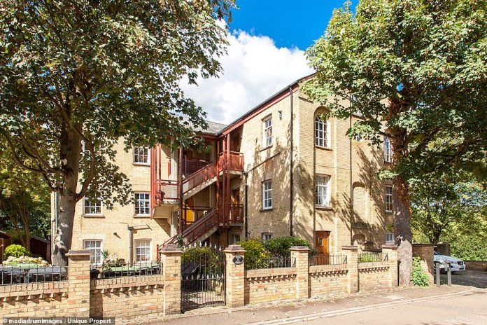 Country Home: The converted mill is located less than an hour from Farringdon Station via a Thasmeslink train service, providing easy access to London