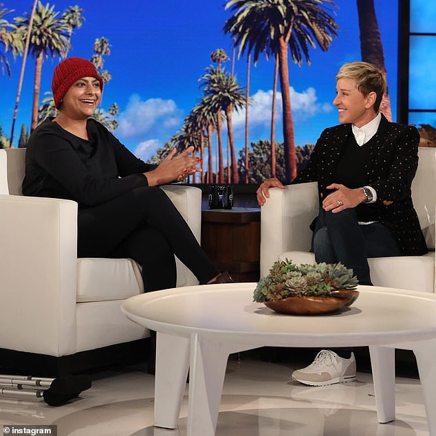 Missed: Ellen DeGeneres shared a picture of Fatima on her show, writing: 'I was lucky to share this visit with Chef Fati. I wish I could have shared more