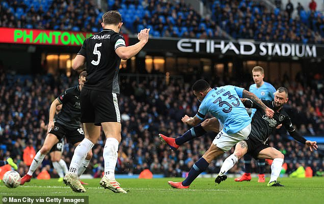 Gabriel Jesus lashed a powerful shot goal-bound to open the scoring for Manchester City  Pep Guardiola latest comment will not make Manchester City players and fans happy. 9018448 6637937 Gabriel Jesus got his body over the ball and lashed a powerful s a 15 1548627597612