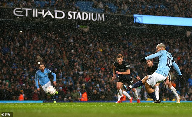 City's 5-0 demolition of Burnley was concluded by Sergio Aguero slotting home a penalty