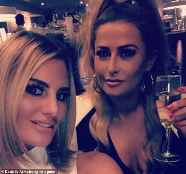 Tragic:Danielle will be taking part in ITV show The Real Full Monty as a tribute to close friend Sammy Brandon (pictured with Danielle), who lost her battle with breast cancer in 2018