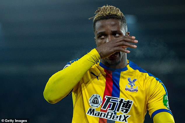 Hodgson won't be able to call upon Wilfried Zaha against Fulham as the winger is suspended