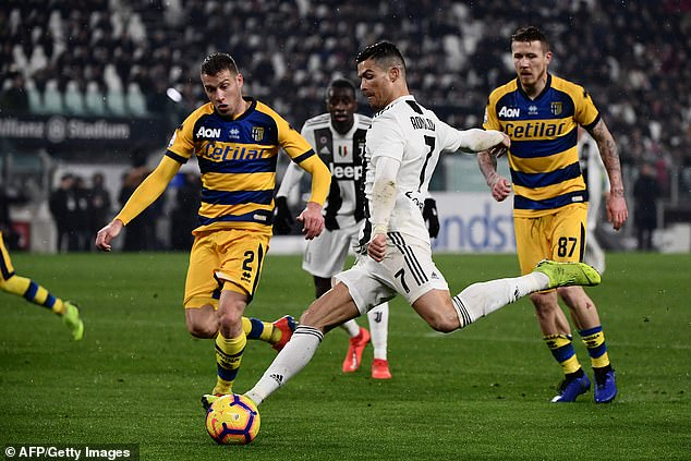 Earlier, Ronaldo provided the opener and scored his 16th Serie A goal of the season