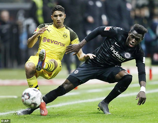 League leaders Borussia Dortmund were held to a frustrating 1-1 draw with Eintracht Frankfurt