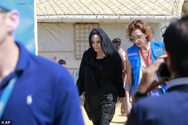 Making a difference:'(Jolie) will definitely have a message to take back from here. We hope that the humanitarian community understands the kind of crisis the Rohingya are in through her,' said Refugee, Relief and Repatriation Commission (RRRC) commissioner Abul Kalam