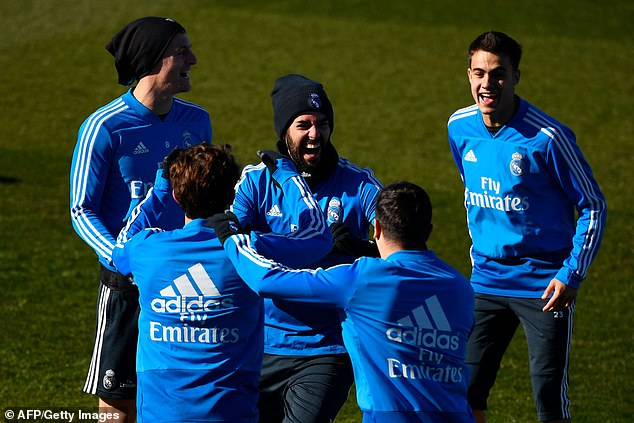 Isco and his team-mates were in high spirits ahead of their visit to the Nou Camp
