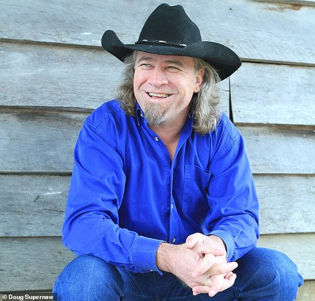 Country star Doug Supernaw, 58 (pictured, 2017), revealed in a Facebook post on Saturday that he is battling stage IV lung and bladder cancer