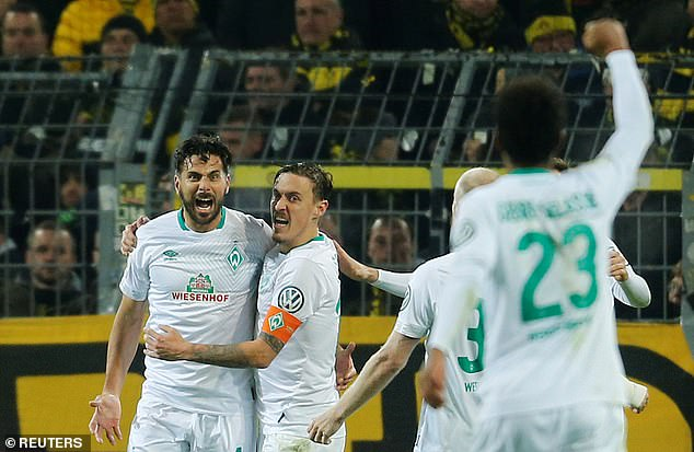 Claudio Pizarro delights in scoring a goal in extra-time for Bremen