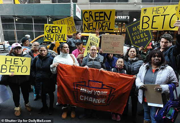 They also want O'Rourke to sign on to the Green New Deal