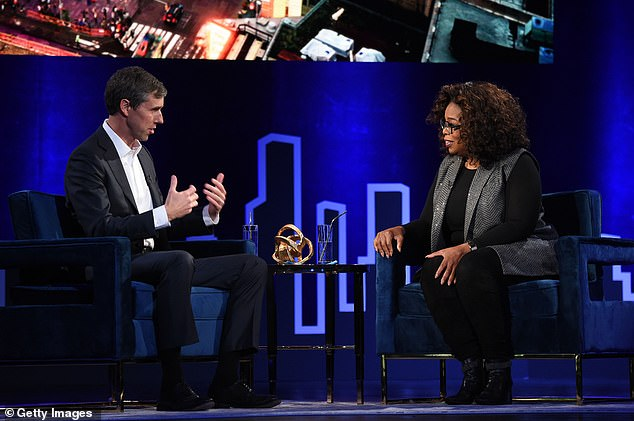 BetoO'Rourke told Oprah Winfrey that he felt a 'profound disappointment' after he let so many supporters down by losing in 2018