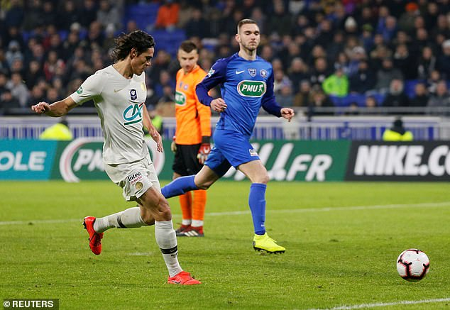 Cavani, having put Draxler through for the opener, sealed the win with seconds left in the tie