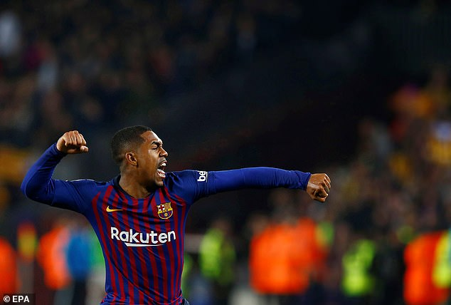 Malcom equalised for Barcelona in the second half but Real Madrid have a crucial away goal